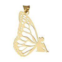 خرید                     آویز گردنبند طلا 18 عیار زنانه طرح فرشته کد UN100