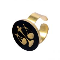 خرید                     انگشتر طلا 24 عیار زنانه طرح ماه مهر کد 1232