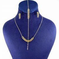 خرید                     نیم ست طلا 18 عیار زنانه کانیار گالری کد NK21