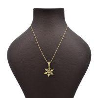 خرید                     گردنبند طلا 18 عیار زنانه آمانژ طرح برف کد 619D3069