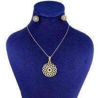 خرید                     نیم ست طلا 18 عیار زنانه کانیار گالری کد 1429