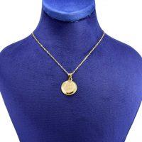 خرید                     گردنبند طلا 18 عیار زنانه کانیار گالری طرح وان یکاد کد 1287