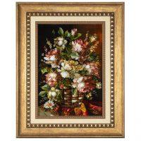 خرید                     تابلو فرش دستباف سی پرشیا طرح گل در گلدان کد 901827