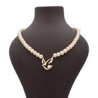 خرید                     گردنبند طلا 18 عیار زنانه آمانژ طرح پرستو کد 896D3386