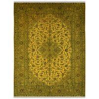 خرید                     فرش دستبافت رنگ شده یازده متری طرح وینتج کد 981201