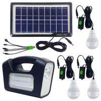 خرید                     سیستم روشنایی خورشیدی جی دی لایت مدل GD-3