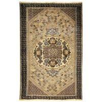 خرید                     فرش دستبافت رنگ شده دو و نیم متری طرح وینتج کد 18195