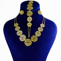 خرید                     نیم ست طلا 18 عیار زنانه کانیار گالری کد NA19