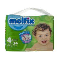 خرید                     پوشک کودک مولفیکس سایز 4 بسته 34 عددی