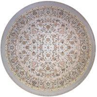 خرید                     فرش ماشینی فرش رادین طرح گرد شاه عباسی آرامش 2 رنگ زمینه طوسی