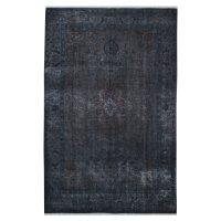 خرید                     فرش دستبافت رنگ شده شش متری طرح وینتیج کد 18203