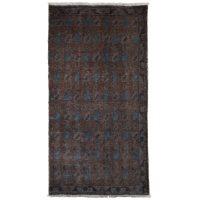 خرید                     فرش دستبافت رنگ شده یک متری طرح وینتج کد 990417