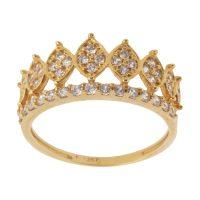 خرید                     انگشتر طلا 18 عیار زنانه کانیار گالری کد AN14