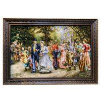 خرید                     تابلو فرش دستبافت مدل عروسی خوبان کد ۳۲۳۴۳۶۷