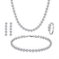 خرید                     ست نقره زنانه اقلیمه کد SN263-7