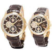 خرید                     ست ساعت مچی عقربه ای زنانه و مردانه اوماکس مدل MG12G55I ML12G55I