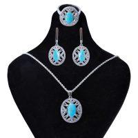 خرید                        نیم ست نقره زنانه بازرگانی میلادی کد NTR_174