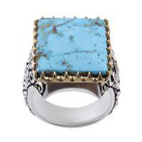 خرید                      انگشتر نقره مردانه بازرگانی میلادی کد AM_268