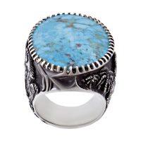 خرید                       انگشتر نقره مردانه بازرگانی میلادی کد AM_263