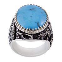 خرید                      انگشتر نقره مردانه بازرگانی میلادی کد AM_262