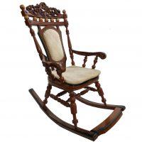 خرید                     صندلی راحتی طرح راک مدل  Wood rocking king