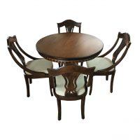 خرید                     میز و صندلی  ناهار خوری چوبی اسپرسان چوب مدل sm03