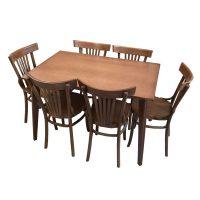 خرید                     میز و صندلی ناهار خوری 6 نفره اسپرسان چوب مدل Sm43