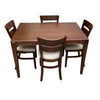 خرید                     میز و صندلی ناهار خوری اسپرسان چوب کد Sm50