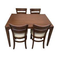 خرید                     میز و صندلی ناهار خوری اسپرسان چوب کد Sm56
