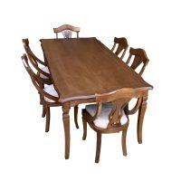 خرید                     میز و صندلی ناهار خوری اسپرسان چوب کد Sm61