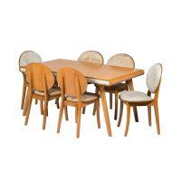 خرید                     میز و صندلی ناهار خوری 6 نفره مدل کارن کد 070