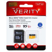 خرید                     کارت حافظه microSDHC وریتی کلاس 10 استاندارد UHS-I U1 سرعت 95MBps ظرفیت 32 گیگابایت به همراه آداپتور SD