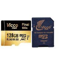 خرید                     کارت حافظه microSDHC ویکو من مدل Final 600x کلاس 10 استاندارد UHS-I U3 سرعت 90MBps ظرفیت 128 گیگابایت همراه با آداپتور SD