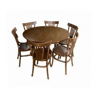خرید                     میز و صندلی ناهار خوری اسپرسان چوب کد Sm77