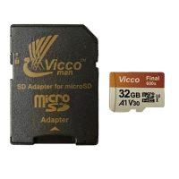 خرید                     کارت حافظه microSDHC ویکومن مدل 600X کلاس 10 استاندارد UHS-I A1 سرعت 90MBps ظرفیت 32 گیگابایت به همراه آداپتور SD