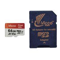 خرید                     کارت حافظه microSDXC ویکومن مدل Final 600X کلاس 10 استاندارد UHS-I U3 سرعت 90MBps ظرفیت 64 گیگابایت به همراه آداپتور SD