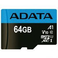 خرید                     کارت حافظه microSDXC ای دیتا مدل Premier V10 A1 کلاس 10 استاندارد UHS-I سرعت 100MBps ظرفیت 64 گیگابایت