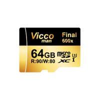 خرید                     کارت حافظه microSDXC ویکو من مدل Final 600X کلاس 10 استاندارد UHS-I U3 سرعت 90MBps ظرفیت 64گیگابایت همراه با آداپتور SD
