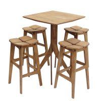 خرید                     ست میز و صندلی ناهار خوری ریتون طرح تترا