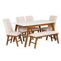 خرید                     میز و صندلی غذاخوری 6 نفره مدل پرنیا کد 956