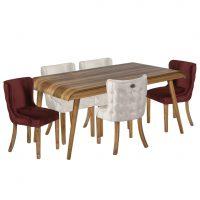 خرید                     میز و صندلی ناهارخوری 6 نفره مدل آبشار کد 28