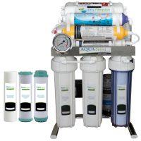 خرید                                     دستگاه تصفیه کننده آب آکوآ اسپرینگ مدل  CHROME - FUQ9 به همراه فیلتر مجموعه 3 عددی