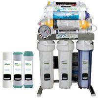 خرید                                     دستگاه تصفیه کننده آب آکوآ اسپرینگ مدل  CHROME - FUF10 به همراه  فیلتر مجموعه 3 عددی