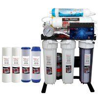 خرید                                     دستگاه تصفیه کننده آب آکوآکلیر  مدل  BLACK RADIX -A2750 به همراه فیلتر بسته 4 عددی
