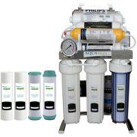 خرید                                      دستگاه تصفیه کننده آب آکوآ اسپرینگ مدل CHROME-XN9  به همراه فیلتر مجموعه 4 عددی
