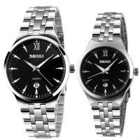 خرید                                     ست ساعت مچی عقربه ای زنانه و مردانه اسکمی مدل 9071