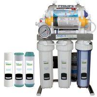 خرید                                     دستگاه تصفیه کننده آب آکوآ اسپرینگ مدل  CHROME - FUX10 به همراه فیلتر مجموعه 3 عددی