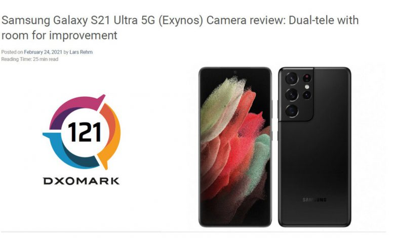 DxOMark از عملکرد ضعیف دوربین گلکسی S21 اولترا خبر داد