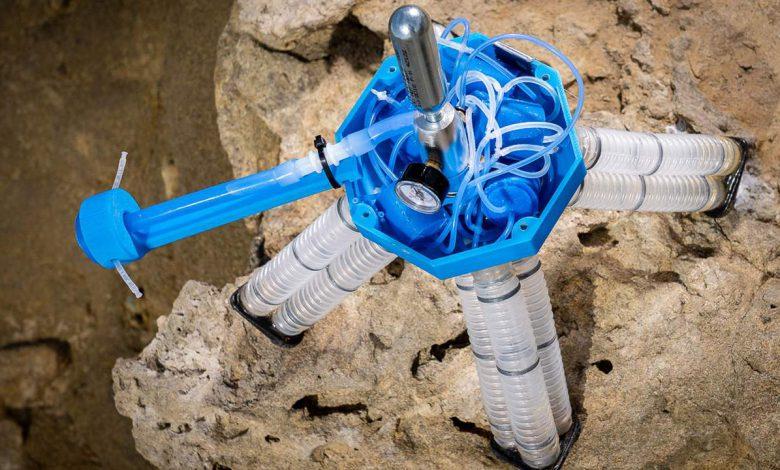 ساخت رباتی که از هوای تحت فشار برای حرکت استفاده می کند