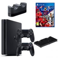 خرید                                     مجموعه کنسول بازی سونی مدل Playstation 4 Slim ریجن 2 کد CUH-2216B ظرفیت 1 ترابایت